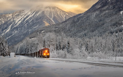 CP 8882 31 DEC 2018-6559-Combination Edit Greely Westbound-2.jpg (Revybawb2010) Tags: combinationfinalimage locomotives artoileffect cpr cp8882 coaltrains greely greelyscenics winter20172018 aaasalvage