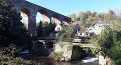 Pensford (Kevin Pendragon) Tags: viaduct stone glass home trees blue sky water waterfall cool scenery sun sunshine national nature naturephotography tree white green light landscape bridge history historic railway river chew autumn shadows arches pillars brick height structure village