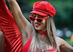 let's dance (gro57074@bigpond.net.au) Tags: let'sdance cbd hydepark colour color 2019 march sydney nikkor f28 70200mmf28 d850 nikon portrait candid pride woman red