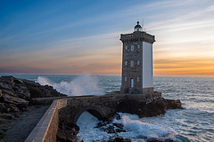 Lighthouse of Kermovan at sunset , Brittany France (Palnick) Tags: lighthouse brittany kermovan coast france nature water travel bretagne sea landscape europe shore rock light building sunset ocean pointe atlantic conquet longexposure stone sky outdoors evening phare landmark clouds guide wallpaper bridge blue coastline cliff way cape sunrise architecture house wave plouzane panorama petit square petitminou nautical town marine exteriorbuilt waves