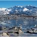 Lødingen op de Lofoten in Noorwegen ...