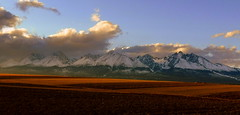 Sunset atmosphere (tatranka7) Tags: landscape panorama mountain field atmosphere evening sunset light sky clouds