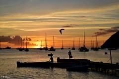 Portsmouth - sunset (Wayne the sailor) Tags: portsmouth dominica sunset