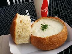 chowder (Jef Poskanzer) Tags: chowder clam breadbowl geotagged geo:lat=3780866 geo:lon=12241560 t