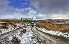 Highland Bothy (Toff Photography) Tags: landscape scotland highland scottishhighlands mountains snow bothy remote cold weather clouds sky