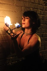 Look into the fire (El Cheech) Tags: modeling photoshoot nightshoot model pretty beautiful firesticks dtla la losangeles downtownlosangeles downtown beauty tftila tfti photomeetup photomeet streetmeet fireperformer streetperformer fire