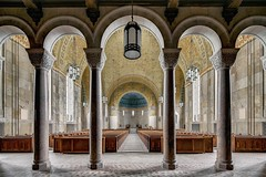 Columns Immaculata (earthmagnified) Tags: church religion architecture sanctuary basilica chapel romanesque roman abandoned empty vacant architectural vault ceiling nave stonework immaculate
