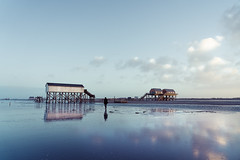 Clouds and Water | St Peter Ording (DerAblichter) Tags: nordsee flut meer northsea hightide lowtide sea nature landscape seascape seashore art contrast sony light licht sonne sun wolken clouds ouside shadows water wasser beach strand natur