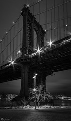 Manhattan Bridge (dansshots) Tags: dansshots nyc newyorkcity newyorkatnight nightphotography nightshot atnight manhattanbridge manhattanbridgeatnight nikon nikond750 nikonphotography rokinon rokinon14mm wideangle bnw blackandwhite blackandwhitephotography blackandwhitephoto blackandwhitenewyorkcity picoftheday pictureoftheday explore urbanexploration urban