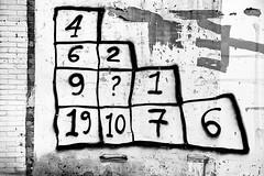 Mathematical Puzzle (just.Luc) Tags: arnhem holland bn nb zw monochroom monotone monochrome bw nederland paysbas niederlande netherlands gelderland numbers cijfers chiffres digits puzzle puzzel wall muur mur mauer grafitti graffiti