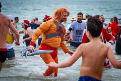 Boxing Day Dip - Folkestone, Kent (BeerAndLoathing) Tags: 2018 december folkestone englandtrip england winter uktrip people canon kent sea beach winter2018 canoneos77d 77d events crowds trip boxingday seafront cold uk sigma18300mm