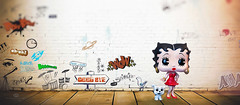 good bye betty (rockinmonique) Tags: compsosite bettyboop toy mini tiny graffiti thanksdiane moniquewphotography canon canont6s tamron tamron45mm copyright 2019 monique w photography