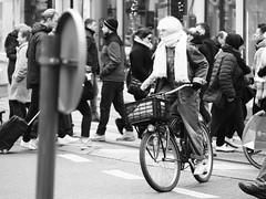White hair BW (jdel5978) Tags: blackwhite blackandwhite bw noiretblanc noir people girl candid bike candide street