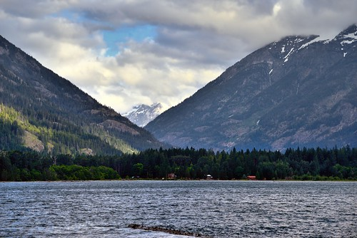 Looking to Distant Mountains from Lake Chelan (North Cascades National Park Service Complex)