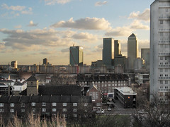 """Isle of Dogs Cityscape 1 (hoffman) Tags: canarywharf city cityscape dilapidated dilapidation docklands eastend flats horizontal housing isleofdogs landscape limehouse london outdoors poor poverty rundown skyline skyscraper street towerblock urban view davidhoffman wwwhoffmanphotoscom uk davidhoffmanphotolibrary socialissues reportage stockphotos""""stock photostock photography"""" stockphotographs""""documentarywwwhoffmanphotoscom copyright"""