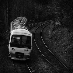 Silver and Black (powern56) Tags: highwycombe buckinghamshire chilternrailways class165 165023 dmu railway train passengertrain monochrome blackwhite dieselmultipleunit