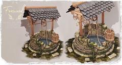 Foxwood - Wishing well @ Kustom 9 (Dani @ Foxwood/Alchemy/Birdy/Foxes) Tags: screenshot sl secondlife foxwood mesh 3d wishing well decor home garden kustom9