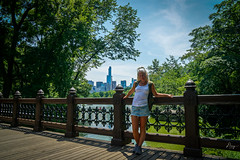 Nice day in Central park (dannygreyton) Tags: woman centralpark usa newyork wife skyline skyscraper sonya6000 sony bridge blonde girl summer park city pond travel