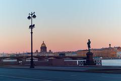 Gradient of the Sunset Sky - Градиент закатного неба (Valery Parshin) Tags: russia saintpetersburg canoneos70d mczenitarc1250s evening sky manuallens architecture monument neva