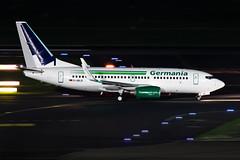 D-ABLB Germania Boeing 737-76J (buchroeder.paul) Tags: eddl dus dusseldorf international airport germany europe ground night dablb germania boeing 73776j