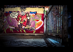 (No distance left to run) (London Lights) Tags: londonlights nodistancelefttorun london lights londres londra streetart streetscene grafitti theend endofanera dryyoureyesmate consent noconsent bye