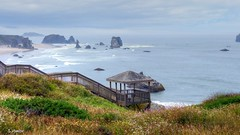 On the Waterfront (Suzanham) Tags: ocean pacific oregon yachats bandonbeach beach waterscape landscape water sandy boardwalk waterfront seascape