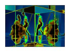Any colour you like (david.hayes77) Tags: melbourne victoria australia oz 2014 selfie reflection doublereflection nationalgalleryofvictoria solarised solarized arty downunder graphic me davidhayes art anycolouryoulike kaleidoscopic