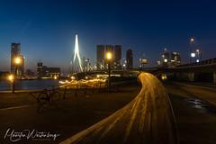 Erasmusbrug-1 (maartenwestenberg) Tags: 2019 erasmusbrug rotterdam sonya7ii stadsfotografie zonsopkomst