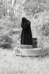 Faceless Teleporting (PhotoJester40) Tags: outdoors outside faceless mask bnw blackandwhite blackwhite noirblanc blacknwhite bw cloak