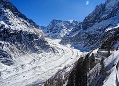 Mer de glace (Manon Ridet) Tags: montagne alpes rhônealpes randonnée alpinisme montblanc mountain glace glacier jorasse chamonix hautesavoie hiver savoie france paysage panorama