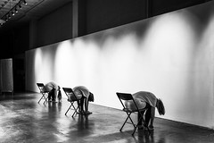 Three On Stage (Modkuse) Tags: dance minimalism monochrome bw blackandwhite art artphotography fineartphotography fineart photoart wideangle fujifilm fujifilmxt2 xt2 xf1855mmf284rlmois fujinon fujinonxf1855mmf284rlmois niksilverefexpro2acrossimulation acros