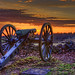 Gettysburg Cannon sunrise (paint filter)