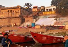 Varanasi, India (Ninara) Tags: varanasi india uttarpradesh ghat ganges ganga gangaaarti sadhu nagasadhu sunrise morning bathing holycity rajaghat kashi benares