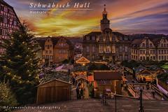 Schwäbisch Hall (Fotomanufaktur.lb) Tags: michelskircye rathaus weihnachtsmarkt schwäbisch hall schölkopf schoelkopf sieder hohenlohe kocher badenwürttemberg abend evening sunset sonnenuntergang