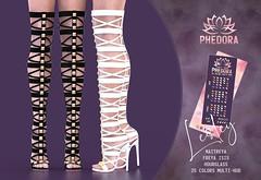 "Phedora. for Kustom9 - ""Lesley"" gladiator heels♥ (Celena Galli ~ phedora.) Tags: sl secondlife second life phedora 3d mesh shoes brand heels platforms shoewear womenswear pumps woman women sexy sassy stylish classy cute chic kinky kawaii fashion event monthly events original content 100mesh new release newrelease meshbody hud multihud maitreya lara belleza isis freya venus slink hourglass physique shopping shopaholic shappaholic straps ankle booties sportswear streetwear ankleboots urban funky heel strappy style strappyheels avatar female femaleavatar femaleavi gladiator lesley k9 kustom9"