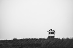 Lonely House (yotamkhr_photo) Tags: house lonely black white france alsace old lens winter cold city bw field dark takumar asahi smc