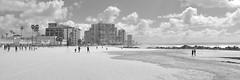 Ocean Towers / Coronado Shores (Oliver Leveritt) Tags: oceantowers coronadoshores coronado california coronadoisland nikond7100 afsdxvrnikkor18200mmf3556gifed oliverleverittphotography beach ocean sky clouds people monochrome blackandwhite