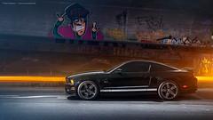 2013 Mustang GT California Special - Shot 5 (Dejan Marinkovic Photography) Tags: 2013 ford mustang gt californiaspecial california special american car coupe black automotive konstanz lake constanze strobist night