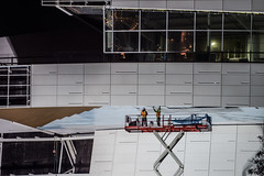 installation of skydeck roof panels (pbo31) Tags: bayarea california nikon d810 color march 2019 boury pbo31 night dark black sanfrancisco city urban missionbay chase arena construction nba warriors basketball center over