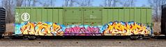 Avok/Choam/Cedar (quiet-silence) Tags: graffiti graff freight fr8 train railroad railcar art avok choam cedar nsf ba boxcar ibt e2e endtoend ibt20009