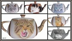 Teekannen - Teapots (antje whv) Tags: collagen kunst art malerei drawing drawings zeichnungen aquarell buntstift polychromos painting