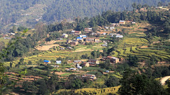 Nagarkot landscape Nepal (Dave Russell (1 million views thanks)) Tags: nagarkot nagarcot nepal nepalese landscape view vista scene scenery field fields farm tree trees house hill mountain travel tourism trek trekking walk canon eos eos7d 7d terrace terraces