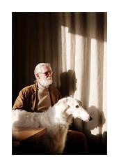 Sacha and Igor (Samuel Zeller) Tags: borzoi fujifilm brussels belgium portrait portraiture dog dogs men human light shadow