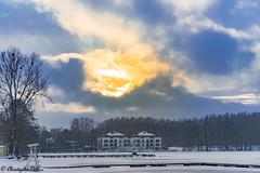 City - Olsztyn (ChristopherD66) Tags: city lake olsztyn starówka ukiel zachód słońca zima niebo