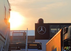 Mercedes paddock at sunset (Marco Moscariello) Tags: formula1 monza f1 moscariello marcoracingpics sunset mercedes paddock box mercedesamg