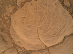 Blob of a Rock in Gale Crater (sjrankin) Tags: 5february2019 edited nasa 2304mh0002990010803855c00dxxx galecrater msl curiosity closeup rock sand cracks