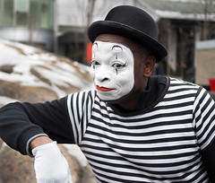 The Art of Expression (jeffcbowen) Tags: mime street hat festival toronto blooryorkvilleicefest icefest makeup costume