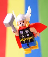 The Mighty Thor! (Andrew Cookston) Tags: lego marvel comics thor odinson loki editing photoshop crystalminifigs custom minifig minifigs moc macro toy still life photography andrew cookston andrewcookston
