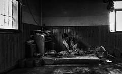 Tibetan Potter (Rod Waddington) Tags: china chinese tibetan potter pottery traditional style shangrila blackandwhite mono monochrome indoor yunnan culture cultural candid handmade windows