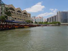 SingaporeRiverColonialDistrict016 (tjabeljan) Tags: singapore asia colonialdistrict singaporeriver colemanbridge oldparliament fullertonhotel themelrion raffles victoriatheatre clarkquay marinabay